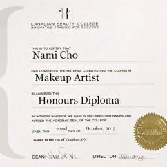Nami Cho Diploma